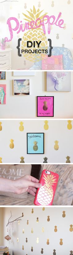 Gold Pineapple DIY Projects: blog post & video
