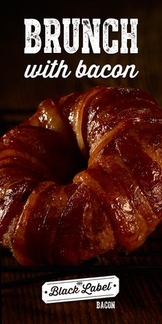 Hormel Black Label Bacon: Savory bacon varieties that never compromise on quality or taste. Maple Donuts, Brown Sugar Bacon, Bacon Breakfast, Bacon Wrapped, Brunch Recipes, Bliss, Sausage, Appetizers, Label