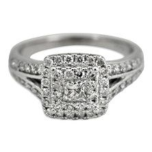 1.0CTW Invisible Set Diamond Ring in 14K White Gold.  $1,495 #ring #gold #diamond
