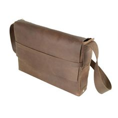 Survivor Leather Satchel Brown now featured on Fab.
