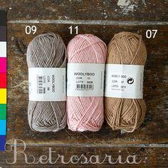 WoolyBoo Rosários 4 – Retrosaria, katoen bamboe wol, 50gr =77m, 6-7mm, €2, 75,