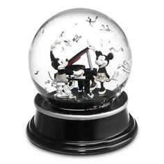 Mickey and Minnie Mouse ''1928'' Snow Globe   Snowglobes   Disney Store