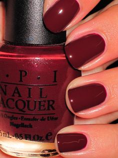 OPI's Oh To Be 25 Again - good shade for the upcoming fall season. Not too red, not too brown.