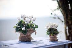 Flowers decor /мешковина