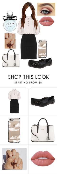 """""""Teacher Look #3"""" by lonelycherrio ❤ liked on Polyvore featuring Manon Baptiste, Dr. Scholl's, Casetify, Calvin Klein, SoGloss, Lime Crime and Kate Spade"""