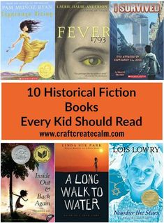 10 of the best historical fiction books for kids. Get kids excited about history with these books about kids during historical events. 10 of the best historical fiction books for kids. Get kids excite Kids Reading, Teaching Reading, Reading Loft, Learning, High School Reading, Teaching Aids, Historical Fiction Books For Kids, History Books For Kids, Books For Tweens