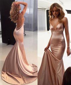 Evening Gowns Formal Dresses for Women Formal Cocktail Dresses – dearmshe Pretty Prom Dresses, Grad Dresses, Ball Dresses, Prom Dresses Silk, 1940s Dresses, Prom Party Dresses, Party Gowns, Summer Dresses, Women's Dresses