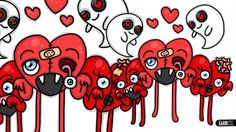 How to Draw Zombies Hearts ♥ Designs for Valentine by Garbi KW
