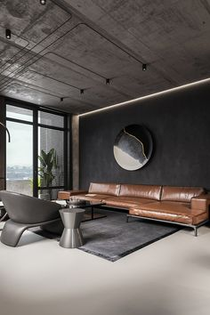 Modern living room design seeks to maximise a sense of spaciousness and lightness. In terms of colour scheme, this means keeping it light. Best Interior Design, Interior Design Living Room, Living Room Designs, Interior Livingroom, Luxury Interior, Loft Design, House Design, Design Design, Design Trends