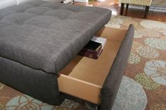 homemade ginger: TUTORIAL: Turn an Ugly Coffee Table into an Ottoman