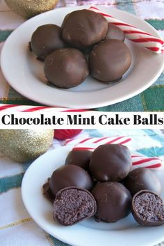 Chocolate Mint Cake Balls--a step by step recipe.