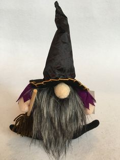 Halloween Plush Witch Gnome with Spider Web Witches Hat Couple Halloween Costumes, Scary Halloween, Fall Halloween, Halloween Halloween, Witch Broom, Witch Hats, Christmas Knomes, Haunted House Props, Haunted Houses