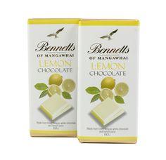 Bennetts of Mangawhai Lemon bar in white chocolate. Belgian Chocolate, White Chocolate, Lemon Bars, How To Make Chocolate, Tableware, Dinnerware, Dishes