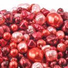 Czech Glass Pearl Bead Mix - Red