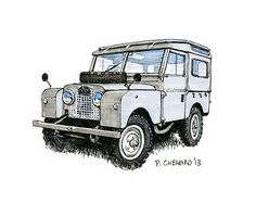 Land Rover sketch as part of the British Motoring Festival 2013 poster art. Pen and markers on watercolour paper X © Paul Chenard 2013 Landrover Defender, Land Rover Defender 110, Landrover Series, Defender 90, Toyota Car Models, Toyota Cars, Lander Rover, Land Rover Off Road, Best 4x4