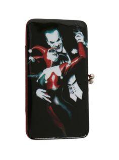 DC Comics Harley Quinn Kisslock Wallet