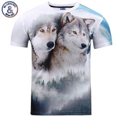 >> Click to Buy << 2017 New Men/Women t shirt Short Sleeve O-neck Snow Mountain Wolf Print Tees Casual t-shirt Hot Tops S-3XL #Affiliate