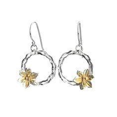 Silver Earrings with Vermeil