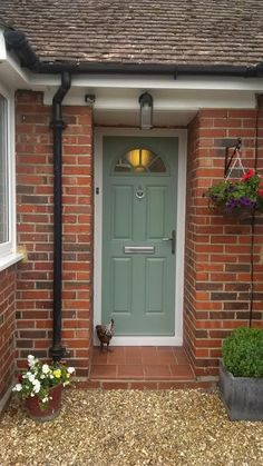 Chartwell green coloured composite front door.