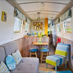 I would love to paint the inside of our narrowboat, this looks so bright. Fancy an idyllic trip down a watery canal? Take a look at these floating havens with beautiful decors you can actually stay in Small Space Living, Tiny Living, Small Spaces, Barge Interior, Interior Design, Interior Ideas, Canal Boat Interior, Narrowboat Interiors, Narrowboat Kitchen