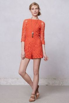 Accordance Lace Romper anthropologie