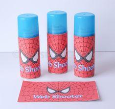 Spider-man Web Shooter Label - Spiderman Label - Instant Download - Spider-man Silly String - Superhero - Superhero Birthday - Spiderman by JessicaJCreates on Etsy https://www.etsy.com/listing/241852414/spider-man-web-shooter-label-spiderman