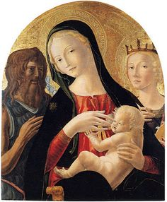 Madonna and child with Saint John the Baptist and Saint Catherine of Alexandria