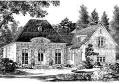 Ideas For House Farm Plans One Story Southern Living Southern Living House Plans, French Country House Plans, French Country Cottage, Country Homes, House Plans One Story, Best House Plans, Story House, Farm Plans, Cottage Floor Plans