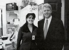 President Clinton poses with a young intern by the name of Monica Lewinsky in 1995.  We all know how that ended…