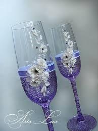 Resultado de imagen para copas para boda decoradas con piedras