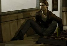 """Silent Hill: Harry Mason - """"At first I thought I was losing my mind. But now I know I'm not. It's not me. This whole town. It's being invaded by the Otherworld. - Harry talking to Cybil while trying to get a grip on his situation -"""