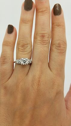 Supply Cushion Cut 1.60 Ct Diamond Engagement Wedding Ring Size M N 14k White Gold Sale Spare No Cost At Any Cost Other Fine Rings