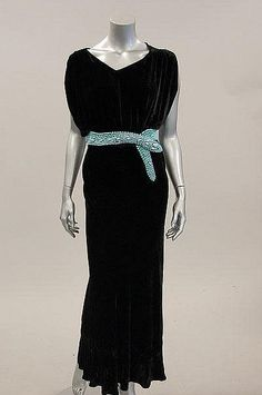 Dress with Snake Belt Louiseboulanger, 1934 Kerry Taylor Auctions