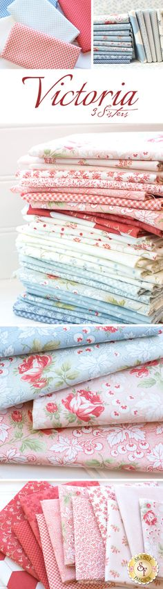 Victoria is a sweet floral collection by 3 Sisters for Moda Fabrics available at Shabby Fabrics.