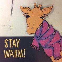 Warm giraffe by Elissa Surabian