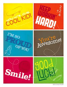 Lunchbox Notes. FREE printables