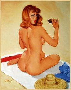 Traditional Pin Up by Baron Jerry von Lind