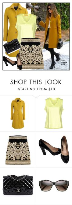 """""""The simple life"""" by lindaking67 ❤ liked on Polyvore featuring J.Crew, Anonyme Designers, For Love & Lemons, Miu Miu and Chanel"""