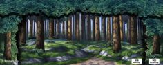 Shrek, the Musical Theatrical Backdrop Rentals by Kenmark Backdrops