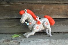 Soft Stuffed Fabric Toy for Home, Nusery Decor - Horse Small Star (made to order)