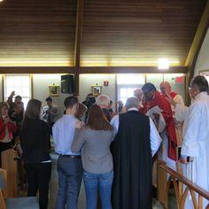 Lifting David Rennie and Meg Rennie in prayer.