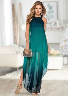 A cocktail dress with a twist. Flowing, sharkbite hem moves with you as you glide across the dance floor. Spring Dresses, Beach Dresses, Blue Dresses, Short Dresses, Blue Green Dress, Dress Long, Beach Wedding Guest Attire, Beach Wedding Guests, Maxi Dresses For Wedding