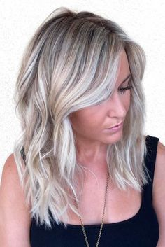 Choppy Mid-Length Waves Hairstyles