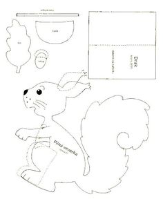 squirrel 1. - autumn paper craft pattern