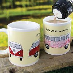 Mug Thermoréactif Campervan Volkswagen : Kas Design, Distributeur de Produits