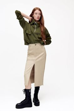 Zara, Color Beige, Hippie Gypsy, Straight Cut, Metal Buttons, Autumn Summer, Welt Pocket, Timeless Fashion, Chic Outfits