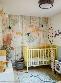Woodland toddler bedroom - Joanna Anastasia