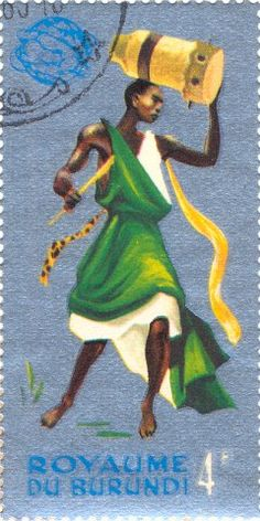 Dancing and musical Burundian Africa Art, East Africa, North Africa, African Great Lakes, Postage Stamp Art, Love Stamps, Vintage Stamps, Small Art, Stamp Collecting