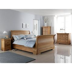 Buy Willis & Gambier Lyon High End Bed Frame, Double from our Beds range at John Lewis & Partners. Free Delivery on orders over Contemporary Bedroom Furniture, White Bedroom Furniture, Modern Bedroom Design, Bed Furniture, Wooden Furniture, Antique Furniture, Wooden Sleigh Bed, Wooden Bed Frames, Sleigh Beds