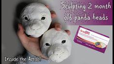 Sculpting 2 month Old Panda Heads!